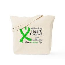 Granddaughter Green Ribbon Tote Bag
