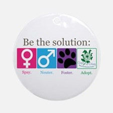 Be the Solution Ornament (Round)