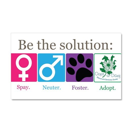 Be the Solution Car Magnet 20 x 12