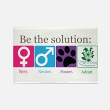 Be the Solution Rectangle Magnet