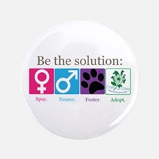 "Be the Solution 3.5"" Button"
