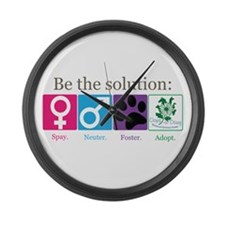 Be the Solution Large Wall Clock