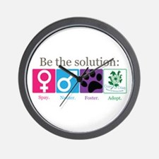 Be the Solution Wall Clock