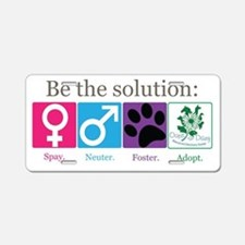 Be the Solution Aluminum License Plate