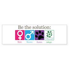 Be the Solution Bumper Bumper Sticker