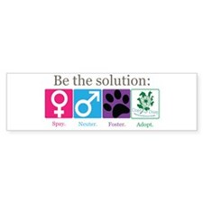 Be the Solution Bumper Sticker