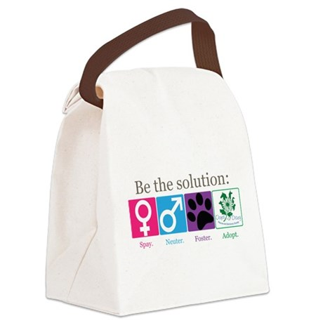 Be the Solution Canvas Lunch Bag