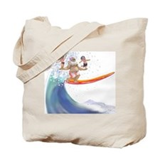sUrFiN WiTh sAnTa Tote Bag