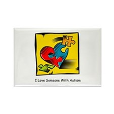 I Love Someone With Autism Rectangle Magnet (10)