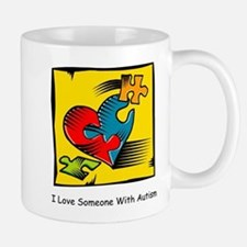 I Love Someone With Autism Small Mugs