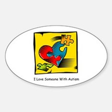 I Love Someone With Autism Oval Stickers