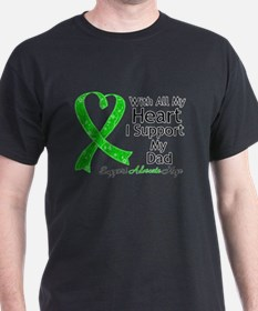 Support Dad Green Ribbon T-Shirt