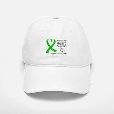 Support Dad Green Ribbon Baseball Baseball Cap