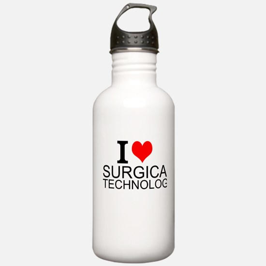 I Love Surgical Technology Water Bottle