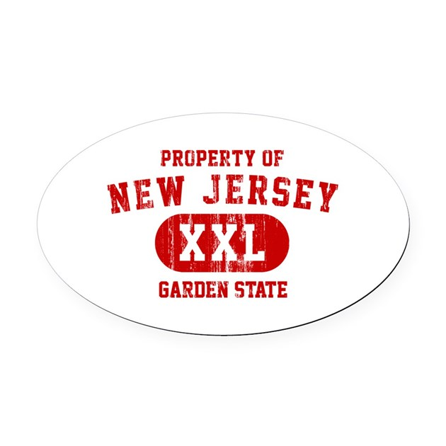 Property Of New Jersey The Garden State Oval Car M By