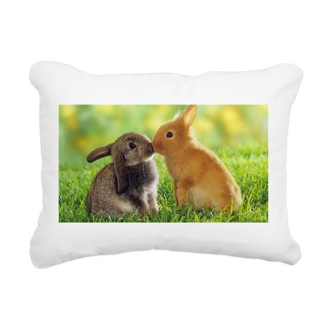Love Bunnies Rectangular Canvas Pillow