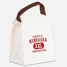 Property of Nebraska the Cornhuskers State Canvas