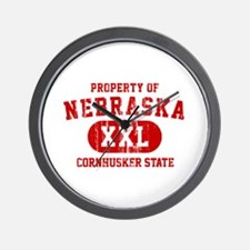 Property of Nebraska the Cornhuskers State Wall Cl