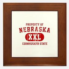 Property of Nebraska the Cornhuskers State Framed