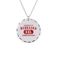 Property of Nebraska the Cornhuskers State Necklac