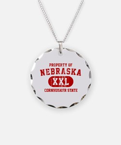 Property of Nebraska the Cornhuskers State Necklac