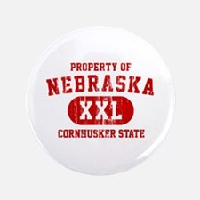 "Property of Nebraska the Cornhuskers State 3.5"" Bu"