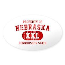 Property of Nebraska the Cornhuskers State Decal