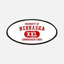 Property of Nebraska the Cornhuskers State Patches