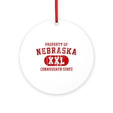 Property of Nebraska the Cornhuskers State Ornamen