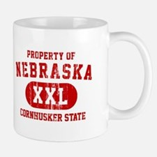 Property of Nebraska the Cornhuskers State Mug