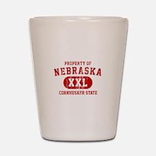 Property of Nebraska the Cornhuskers State Shot Gl
