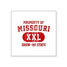 Property of Missouri the Show Me State Square Stic