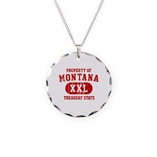 Property of Montana the Treasure State Necklace Ci