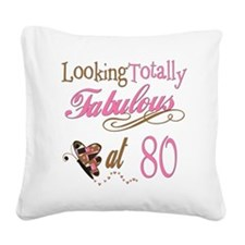 FabPinkBrown80.png Square Canvas Pillow
