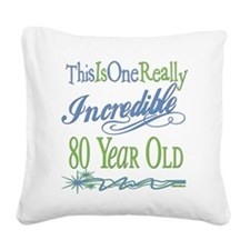 IncredibleGreen80.png Square Canvas Pillow