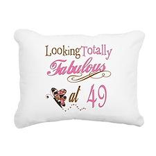 FabPinkBrown49.png Rectangular Canvas Pillow