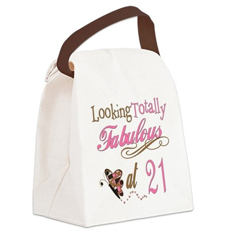 FabPinkBrown21.png Canvas Lunch Bag