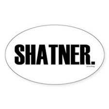 Shatner Oval Decal