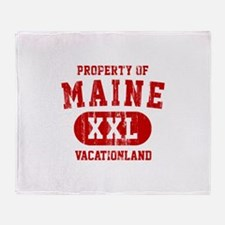 Property of Maine the Vacationland Throw Blanket