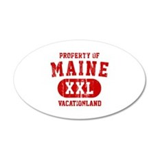 Property of Maine the Vacationland 35x21 Oval Wall