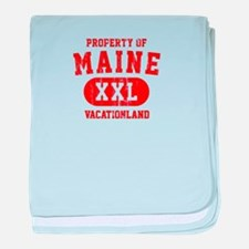 Property of Maine the Vacationland baby blanket