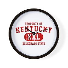 Property of Kentucky the Bluegrass State Wall Cloc