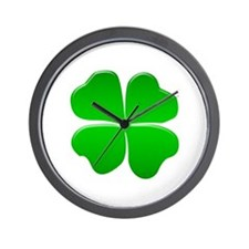 Irish Clover Wall Clock