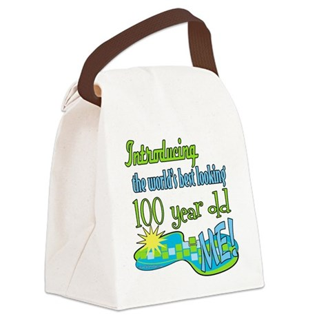 Introducing100 copy.png Canvas Lunch Bag