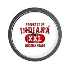 Property of Indiana the Hoosier State Wall Clock