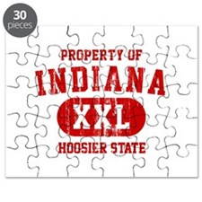 Property of Indiana the Hoosier State Puzzle