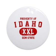 Property of Idaho the Gem State Ornament (Round)