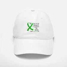 Support Wife Green Ribbon Baseball Baseball Cap
