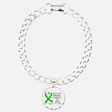Support Wife Green Ribbon Bracelet