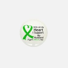 Support Husband Green Ribbon Mini Button (10 pack)